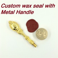 Customize Wax Stamp With Your Logo With Metal Handle DIY Ancient Seal Retro Stamp Personalized Stamp