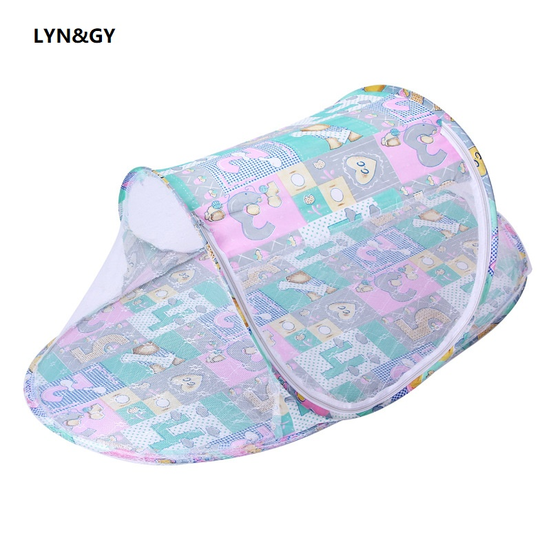 Newborn Baby Bedding Protection Mesh Mosquito Net Infant Crib Netting Bed Mosquito Insect Cradle Foldable Cibinlik Zanzariera