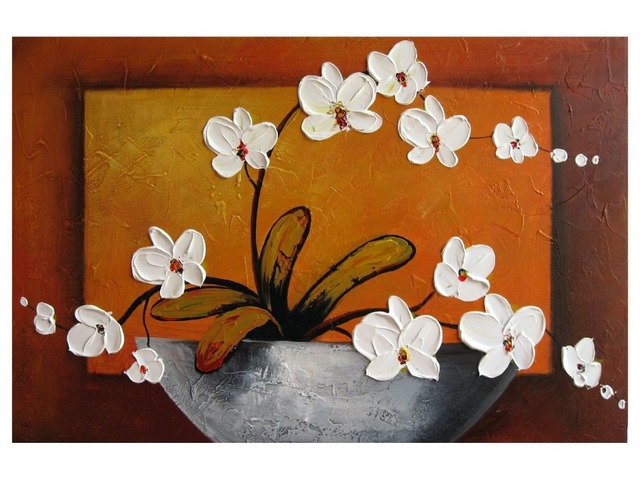 pure hand painted oil painting decorative painting frame painting modern minimalist paintings art painting blooming - Decorative Painting