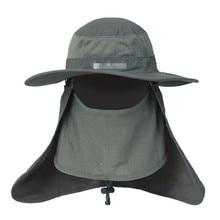 Outdoor Quick Drying Fishing Hats Large Round Brim fishing cap Sun Block Anti-UV Mosquito hat Sun Cap for fishing cap