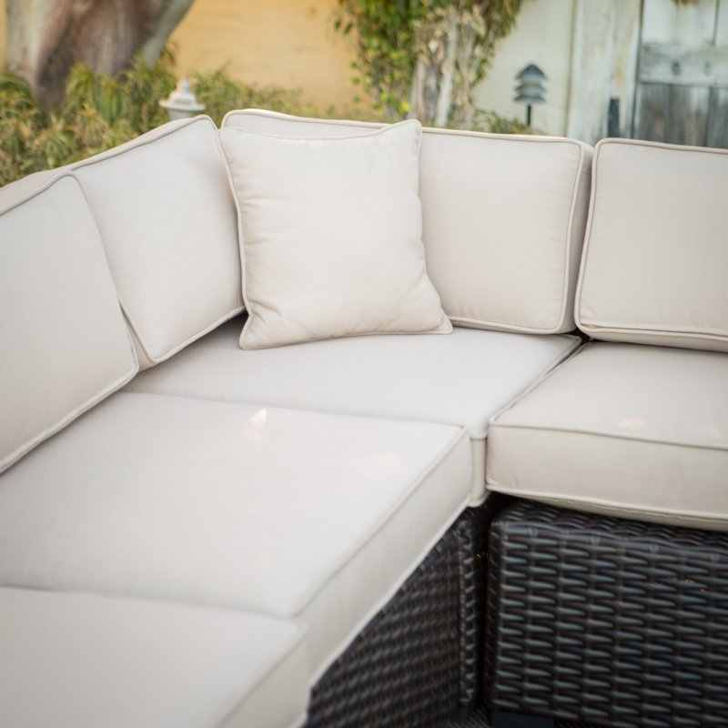Top sale wicker Alum frame buy rattan sofa from china