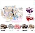 Envío gratis 7 Colores 5 Unids/set Alta Calidad de Mano de Pañales Bolsas de Hombro Durable Del Bolso Del Panal de La Momia de La Madre Del Bebé