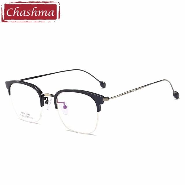 6f710c01d16d Chashma Brand Half RimEyeglasses Women Fashion Optical Frames Clear Lenses  TR90 Glasses Trend Glasses Frame Mens Spectacles