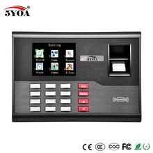 TCP IP отпечатков пальцев часы-Регистратор посещений Регистраторы сотрудников цифровые электронные на английском языке на основе снятия отпечатка пальца USB RFID ID карты