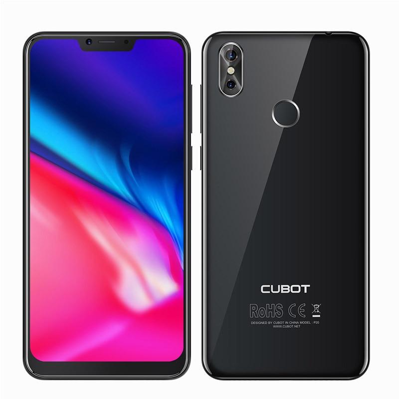 Cubot P20 19:9 6.18' 2246*1080 FHD+ Notch Screen Android 8.0 4GB RAM 64GB ROM MT6750T Octa-Core Telephone 4000mAh 16MP Phone