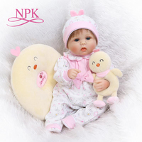 NPK soft silicone reborn baby doll toys lifelike lovely newborn babies girl dolls fashion birthday gifts for children