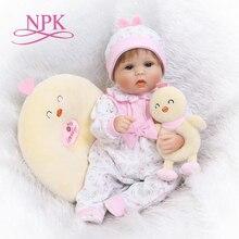 NPK soft silicone reborn baby doll toys lifelike lovely newborn babies girl dolls fashion birthday gifts