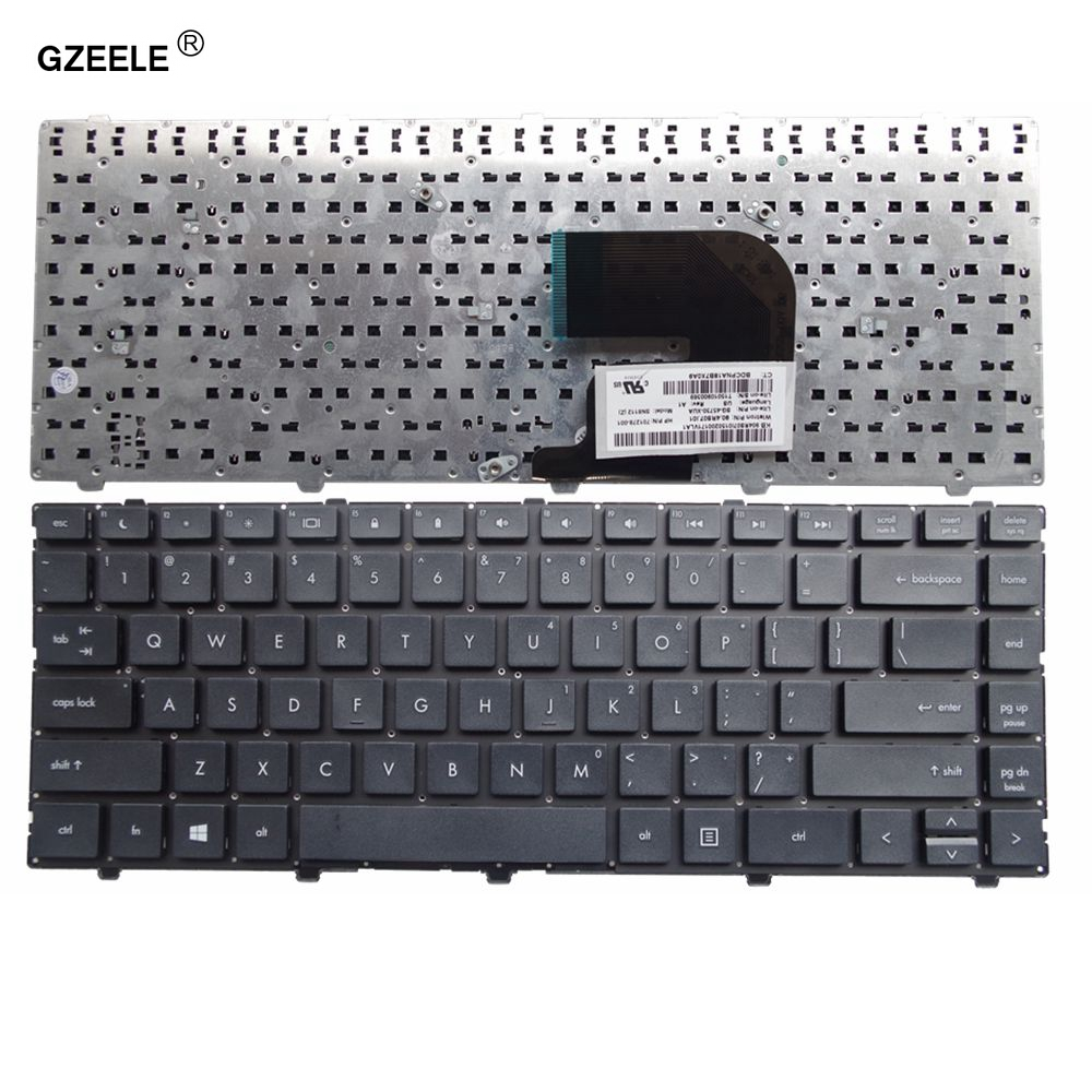 GZEELE US Black New English Keyboard FOR HP For ProBook 4340s 4341s 4345s 4346s Laptop Keyboard US Black Without Frame Notebook