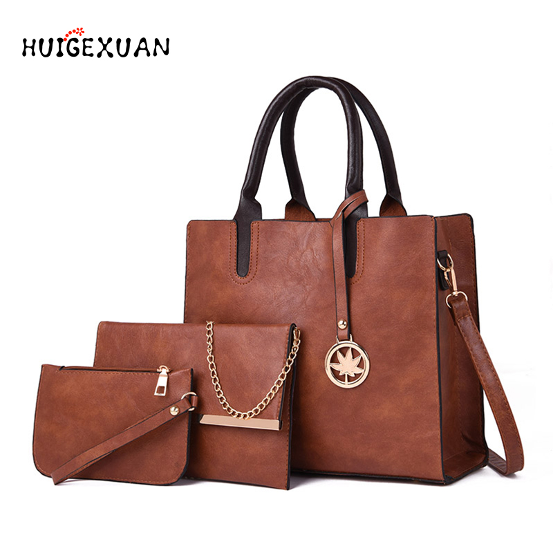 290f1251558d US $20.18 39% OFF|New Women Bags 3pcs/Set Leather Handbags Women Large Tote  Bag Ladies Shoulder Bag Handbag Female Bags Fashion Purses And Handbag-in  ...