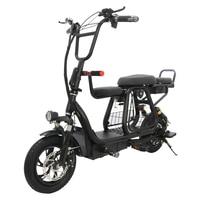 Новый 12 дюймовый складной электровелосипед с корзина для животных электрический велосипед батарея Съемная путешествия, фара для электрове