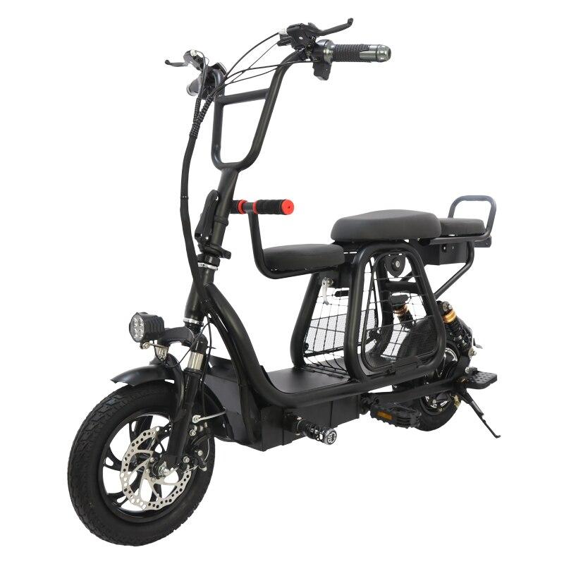 Nova 12-polegada bicicleta elétrica dobrável com cesta de estimação 2-roda de bicicleta elétrica da bateria ebike de viagem destacável Adulto bateria de scooter