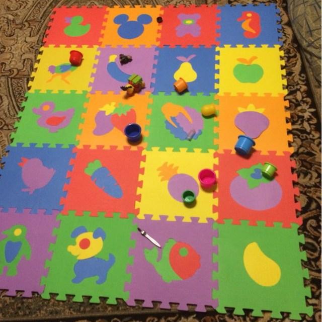 10pcs Pack Kids Eva Foam Mat Baby Puzzle Child Floor Digit Number Animals Mats 30x30cm Px10