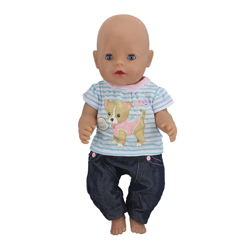 Beautiful Set Doll Clothes Wear Fit For 43cm/17inch Baby Doll, Children Best Birthday Gift(only Sell Clothes)