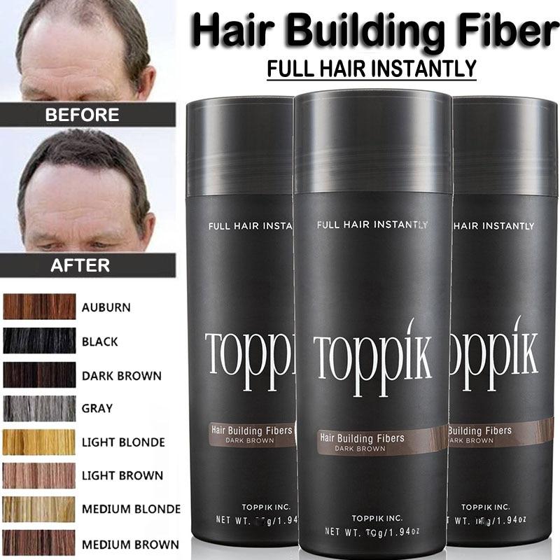Toppik Hair Fiber Keratin Hair Spray Building Fibers Styling Powder Essential Oil Salon Beauty Makeup Puff Hair Loss Concealer