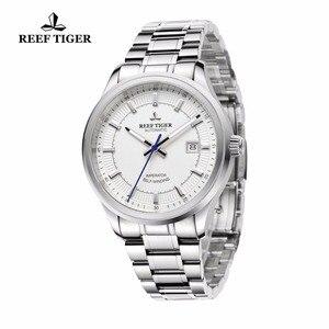 Image 2 - Rafa Tiger/RT biznesmenów najwyższej klasy ekskluzywna sukienka zegarek mechanizm automatyczny mężczyzna RGA8015 316L z litej stali Super świecenia