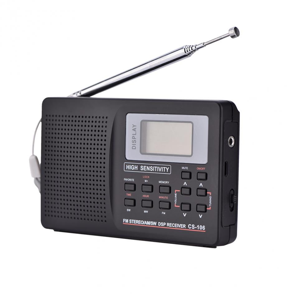 VBESTLIFE Portable Radio Support FM/AM/SW/LW/TV Sound Full frequency Radio Receiver Alarm Clock FM Radio Mini Radio