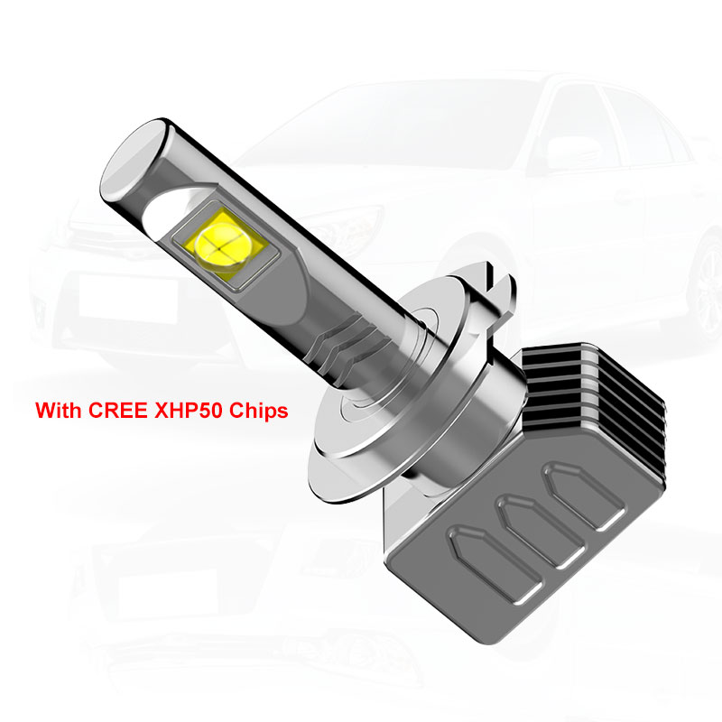 Image 3 - 2X 9000LM H7 LED Headlight Kit for XHP50 Chips Fanless SUPER White Driving Headlamp H4 H8 H11 H16(JP) 9005 9006 H10 9012-in Car Headlight Bulbs(LED) from Automobiles & Motorcycles