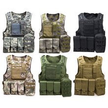 Tactical Airsoft Hunting Fishing Accessories outdoor Camouflage Vest Amphibious Multi Pockets Military Molle Plate Carrier