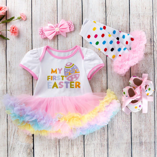 43fb6d549ee0 Cotton Baby Girls Clothes 1 Year 1st Easter Dress Party Dresses for Girl  Toddler Kids Baptism Gown Tutu Outfits with Headband