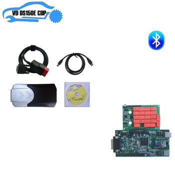 2pcs/lot DHL 2016 R0 free active by mail software VD DS150E CDP TCSP PRO PLUS with bluetooth can choose green pcb for