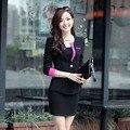 2016 Women Clothing Autumn Style Skirt Suit Office Lady Uniform Long Sleeve Female Blazer And Skirt Plus Size Workwear Suit Sets