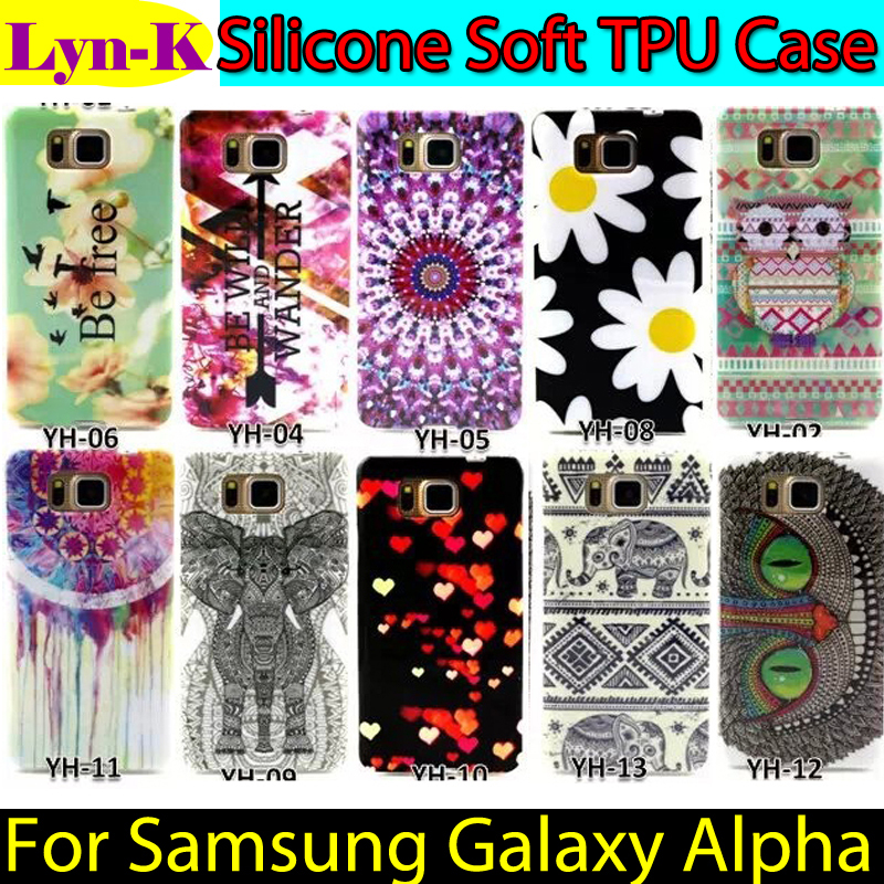 Flower Owl Designed Coque sFor Galaxy Alpha Silicon Soft TPU Back Case Cover Samsung SM-G850 /SM-G850F G850M - Lyn-K Electronic Co., Ltd store