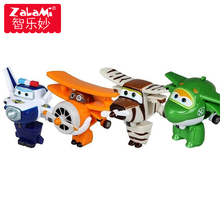 8 Pcs/set Mini Airplane Anime Super Wings Model Mainan Transformation Robot Aksi Angka Superwings Mainan untuk Anak-anak Anak-anak