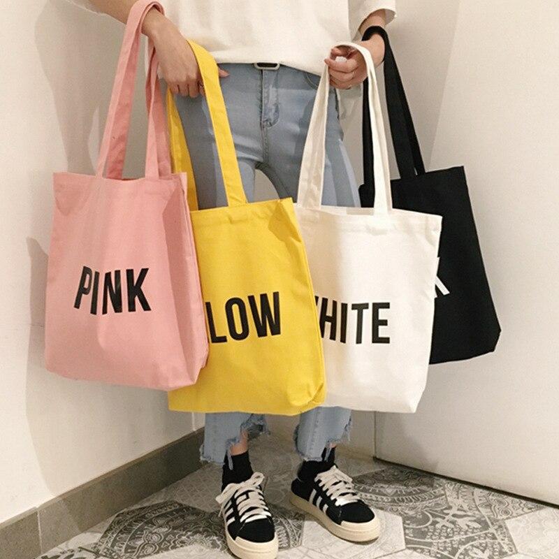 2019 Ladies Duty Canvas Tote Bag Handmade Cotton Shopping School Travel Women Folding Shoulder Shopping Bags girls simple bag african elephant