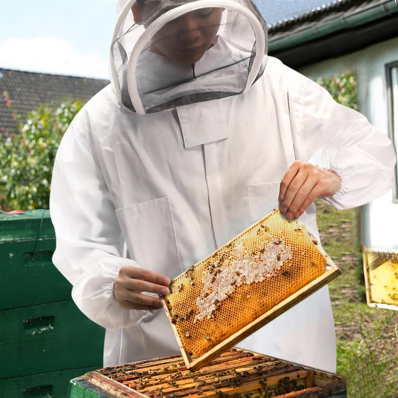 Full Body Beekeeping Clothing Veil Hood Gloves Hat Cloth Jacket Protective Beekeeping Suit Beekeepers Bee Suit Equipment