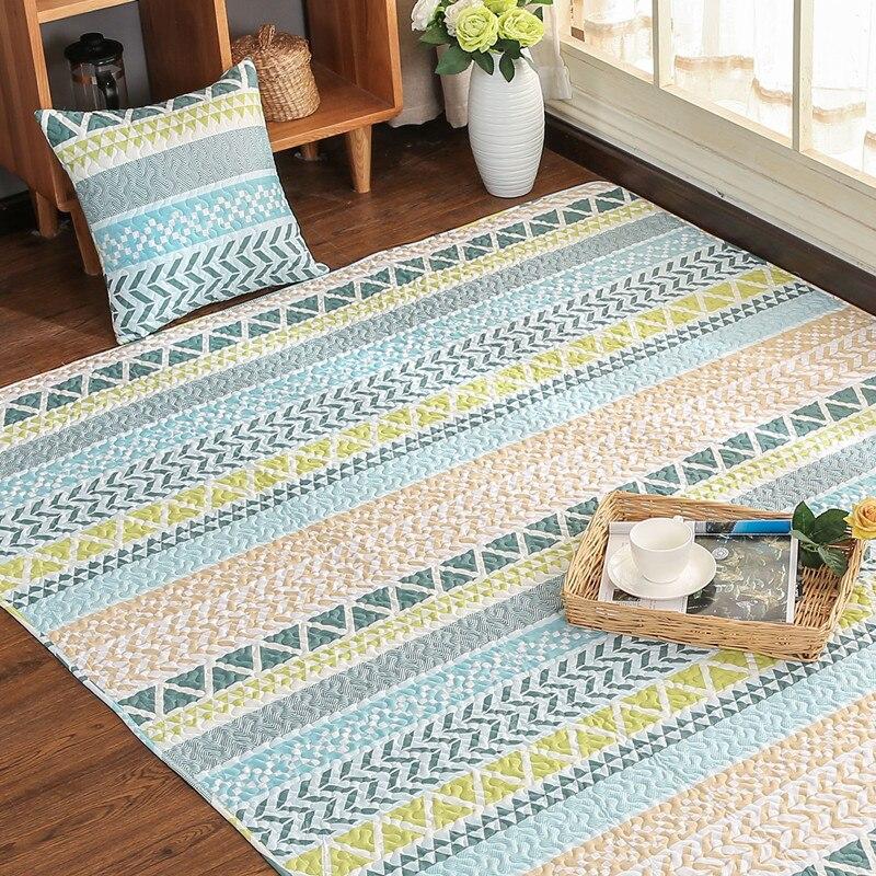 Europe 3D Carpet 100% Cotton Mats Door Carpet For Living Room Non-slip Mat Kids Crawl Bedroom Area Rugs Yoga Mat Vloerkleed