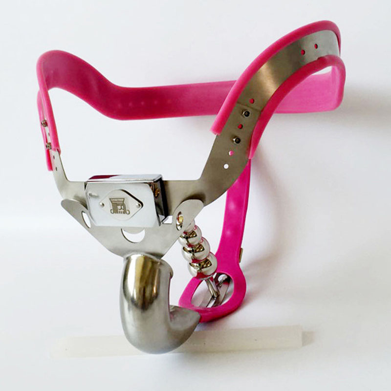 Top fashion male chastity belt metal panties T4 stainless steel chastity lock device bdsm men cock cage products for adults 2017 new ccb male chastity belt panties abstinence stainless steel chastity device penis cage metal bdsm sex products for men