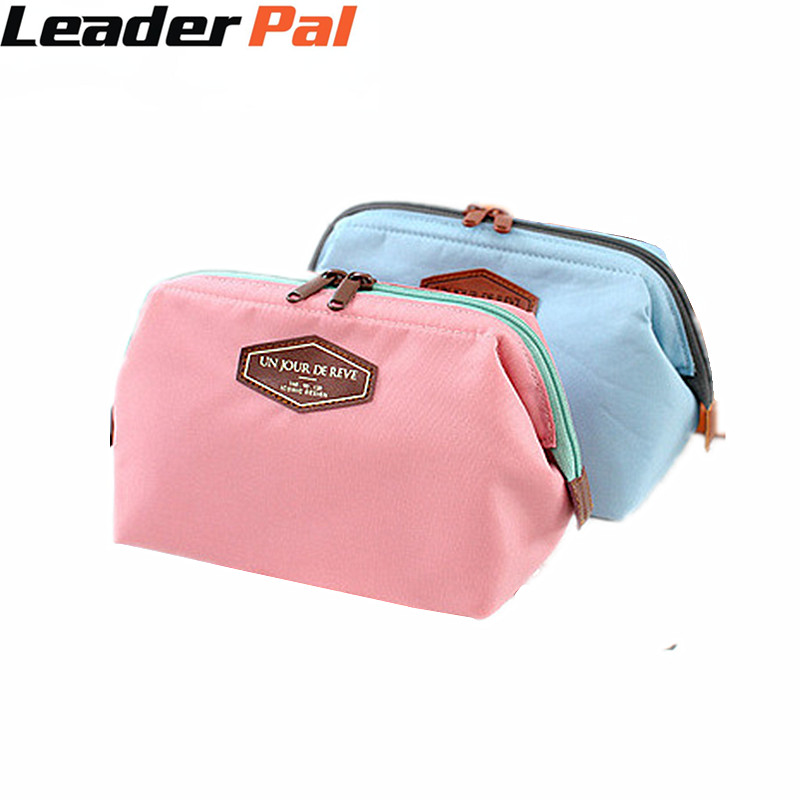LeaderPal Portable Canvas Cosmetics Pouchs for Travel Ladies Pouch Women Cosmetic Bag Multifunction Makeup Kits Storage Bags New