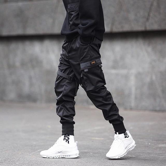 Men Multi-pocket Elastic Waist Design Harem Pant Men Streetwear Punk Hip Hop Casual Trousers Joggers Male Dancing Pant GW013 3