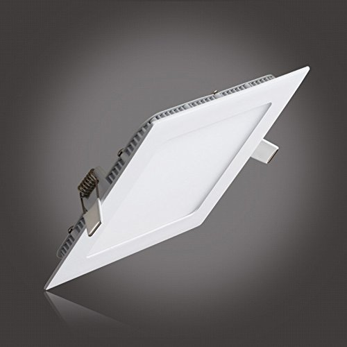 Ultra Thin Led Panel Downlight 3w 4w 6w 9w 12w 15w 25w Square LED Ceiling Recessed Light AC85-265V LED Panel Light SMD2835 image