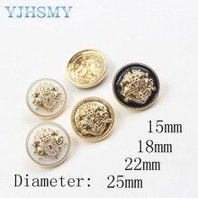 YJHSMY 179164,10pcs/Lot,25/22/18/15mm High quality classic fashion metal buttons clothing accessories DIY handmade