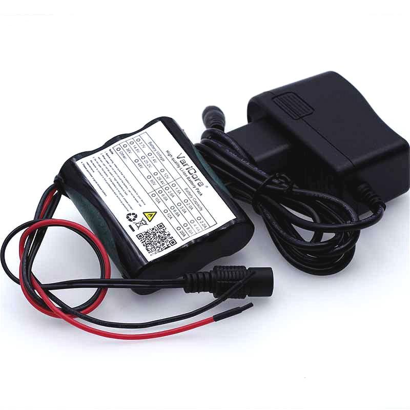 VariCore 12 V 2600 mAh 18650 batería recargable de iones de litio para 35 W lámpara LED cámara CCTV 2.6A baterías + tablero de protección