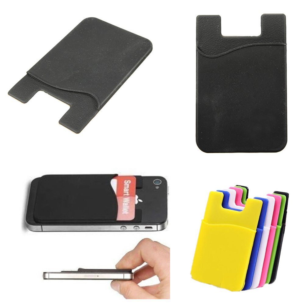 ... Card Case Holder Pocket Sleeve for iPhone 6s 6 5s 5 Samsung Galaxy S4