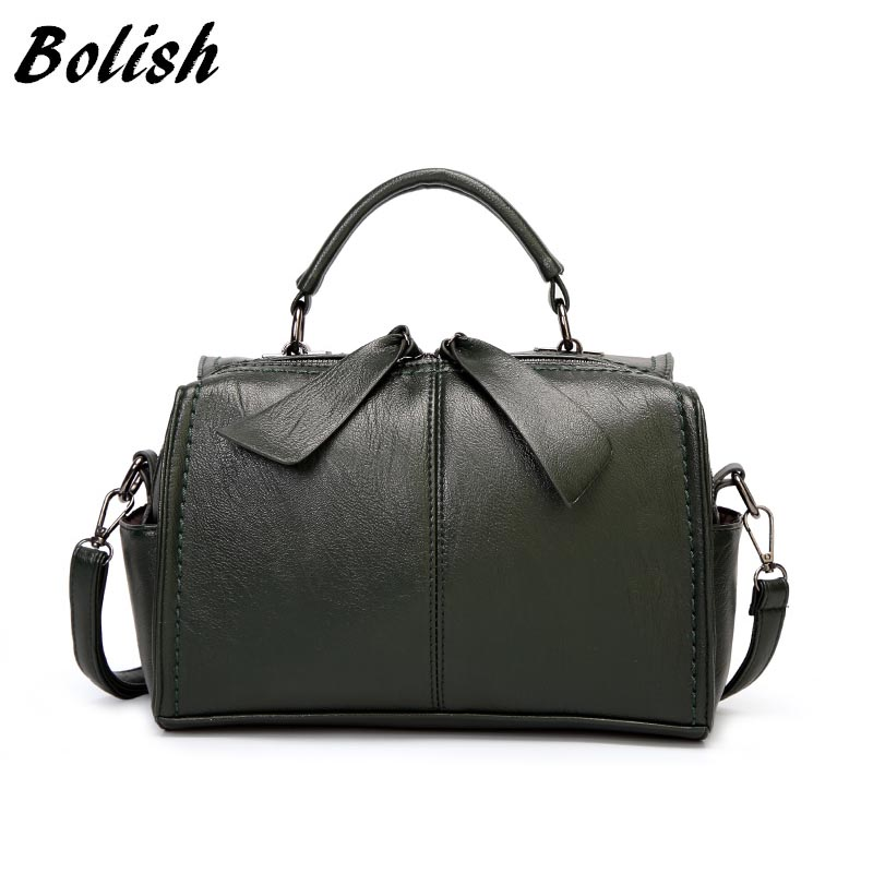 Bolish Women Causal Ribbon Shoulder Bag for Tavel Female Classic High Capacity Daily Handbag All-Purpose Style PU Dames Tassen ...