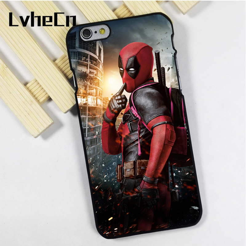 LvheCn phone case cover fit for iPhone 4 4s 5 5s 5c SE 6 6s 7 8 plus X ipod touch 4 5 6 Deadpool Marvel DC Comic Movie Superhero