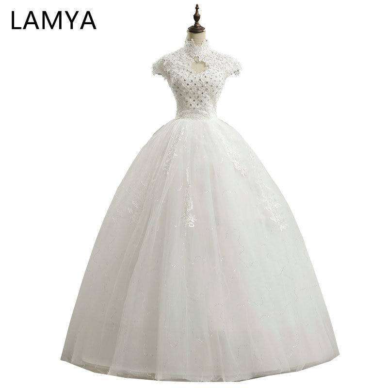 Lamya Lace Sweetheart Short Wedding Dress 2018 Cheap Plus Size