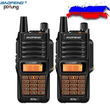2 uds Baofeng UV-9R Plus Walkie Talkie impermeable 8W Radio bidireccional de mano de banda Dual 10km de largo alcance UV9R CB Ham Radio portátil(China)