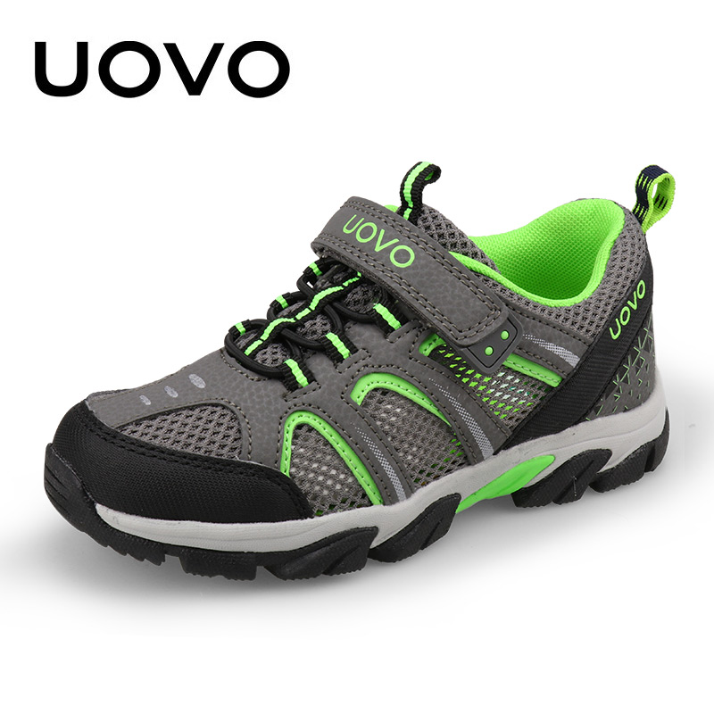 UOVO Brand Kids Running Shoes For Boys 2018 New Breathable Sports Shoes Mesh Children Sneakers Light-weight Footwear Size 29-37# 2016 new shoes for children breathable children boy shoes casual running kids sneakers mesh boys sport shoes kids sneakers