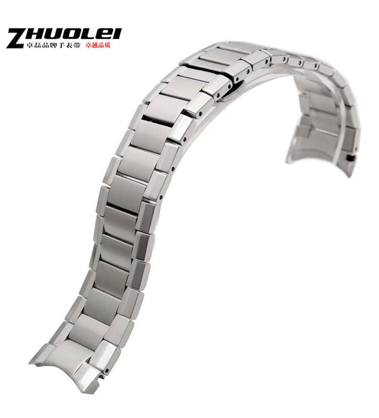 New Mens Stainless Steel Silver Metal Bracelet Watch Band Strap 22mm For AR2448 AR2432 stainless steel cuticle removal shovel tool silver