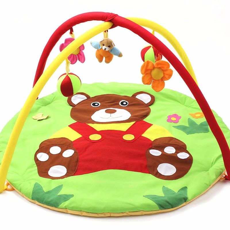 Bear Baby Play Mat 0-12 Months Bebe Educational Toy Game Tapete Infant Crawling Play Gym Kids Puzzle Mat Cartoon Blanket Carpet