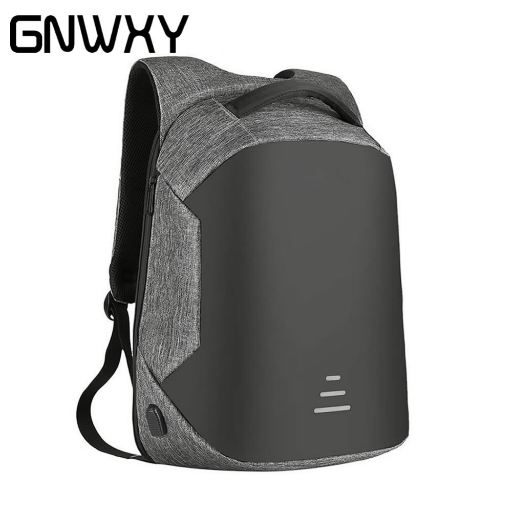 GNWXY Men Anti Theft 15.6Inch Laptop Backpack USB Charging Design Oxford Waterproof Travel Boy/Girl School Notebook Bag