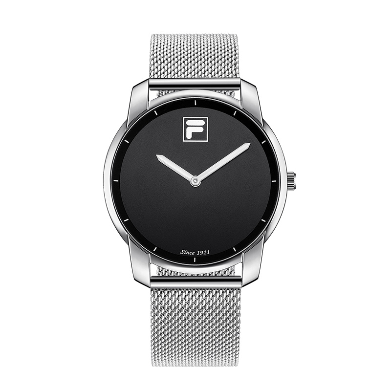 Fila watches men and women quartz watch fashion trend double needle large dial woven steel belt for Fila watches