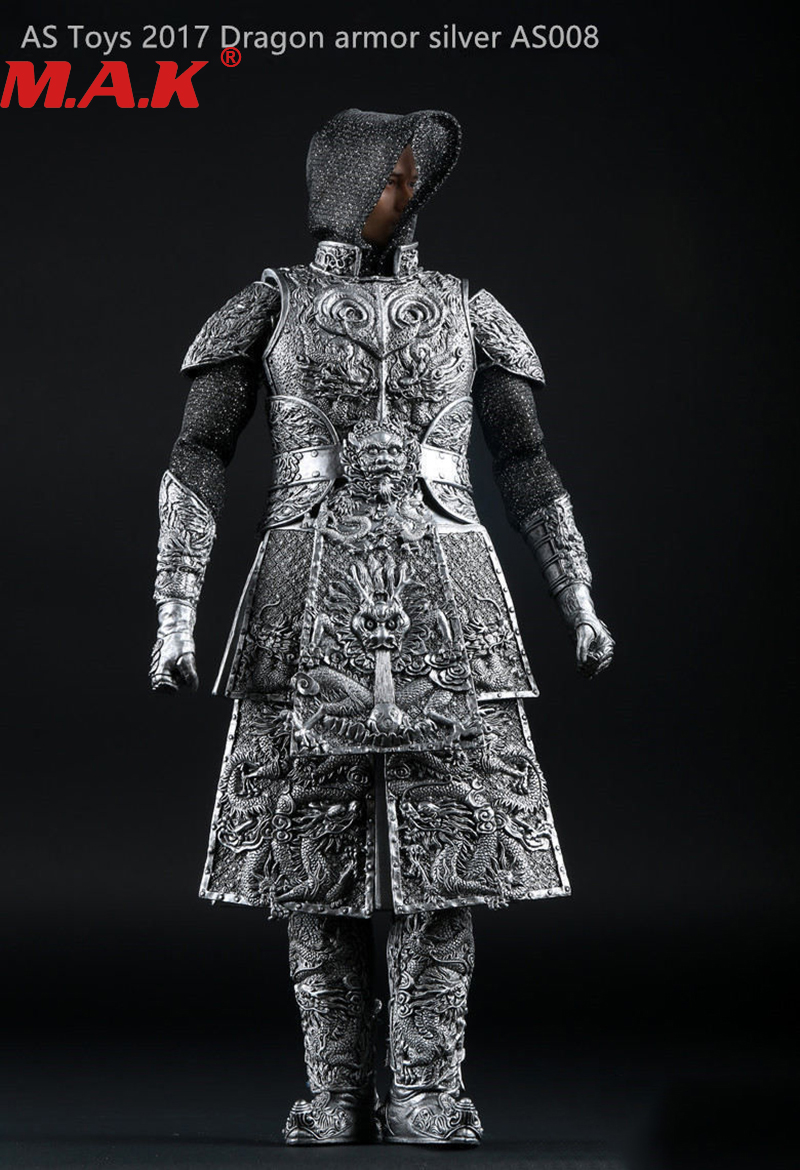 1/6 scale ancient general knight armour battlegear set model sliver AS008 suits clothes for 12 male man action figure accessory 1 6 scale batman the dark night joker the j bank robber suits clothes clothing fit for 12 male man action figure accessory