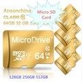 Marca 2016 Nueva Capacidad Real de Alta Velocidad de Oro Regalo 32 GB 64 GB 128 gb 256 gb 512 gb tarjeta de memoria tf tarjeta sd micro caliente!!