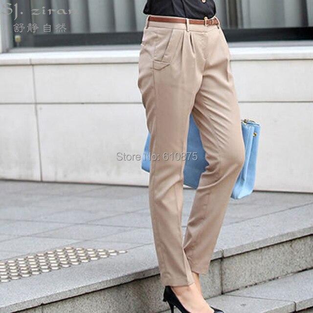 Women Spring autumn plus size casual waist harem pants casual leggings trousers  DY