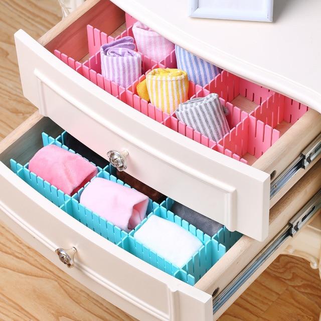 4pcs/lot Storage Separator Divider Closet Boxes For Debris Socks Underwear  Organizer Shelf Basket Drawer